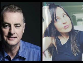 Collage of Dave Fanning smiling and Annmarie Cullen with hand on head