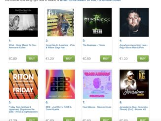 iTunes singles chart photo showing annmarie cullen's what i once meant to you at number 1
