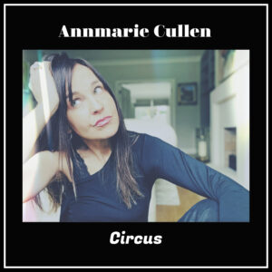 annmarie cullen single artwork for circus. Annmarie sitting down leaning head on hand